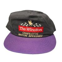 Vintage 90's The Winston Charlotte Motor Speedway Snapback Hat Made In Usa