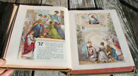 antique c1920 Catholic German family New Testament Bible heavily illustrated