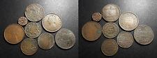 Inde / India - lot de x8 monnaies du XIXème siècle