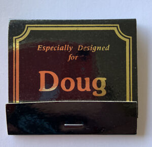 Personalized For Doug Matchbook Collectible Vtg NOS Customized For Doug Foil