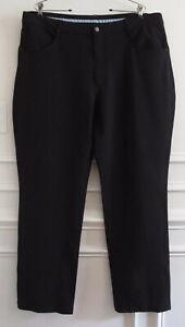 New FootJoy FJ Athletic Fit Black 5 Pocket Performance Golf Pants 40 x 31.5