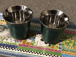 2x New Nespresso Lungo Pixie Cups - Lungo size in Fortissimo Green