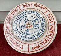 "Antique 19th Century Hand Made Hand Painted Folk Art Decision Wheel ~ 15"" diam."