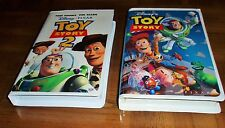 DISNEY'S TOY STORY VHS - TOY STORY 2 VHS - LOT OF 2-PIXAR-COMPUTERIZED ANIMATION