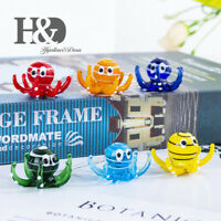 Art Octopus Animal Glass Blown Miniature Animals Collection Home Gifts Pack of 6