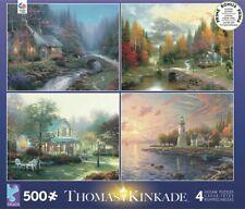 Ceaco Thomas Kinkade 4-in-1 Jigsaw Puzzle Set