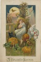 JOHN WINCH HALLOWEEN NIGHTMARE POSTCARD c1913