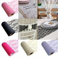 Organza Roll Sheer Fabric Wedding Chair Sash Bows Table Runner Party Decor YW