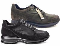 FRAU 46D4 NERO VISONE SOFTY NANT scarpe donna sneakers pelle camoscio casual
