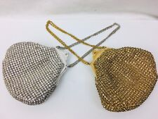 Vintage Bag Encrusted Crystal Rhinestones Prong Set West Germany Bag