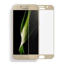 Samsung Galaxy A5 2017 FULL SCREEN COVER 3D Panzerglas Panzerfolie Gold