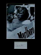 More details for james hunt signed autograph photo display formula one f1 racing driver