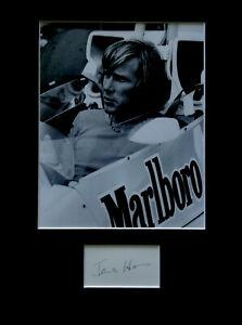 JAMES HUNT signed autograph PHOTO DISPLAY Formula One F1 racing driver