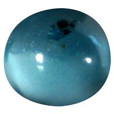 1.17 ct Oval Cabochon Shape (6 x 6 mm) Brazilian Paraiba Blue Apatite Gemstone