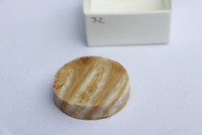 32) Woolly Mammoth Tooth Polished Slice Fossil - Ideal For Jewelry Making
