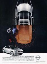 2009 Nissan Maxima Performance -  Original Advertisement Print Art Car Ad J884