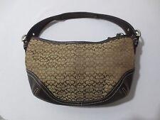 Womens COACH Signature C Canvas & Leather Hobo Handbag