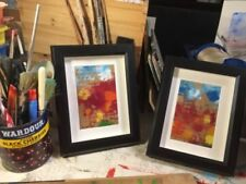 Acrylic Small (up to 12in.) Red Art Paintings