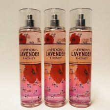 Bath and Body Works x3 French Lavender & Honey Fine Fragrance Mist Spray 8 oz