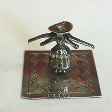 Antique Solid Silver Miniature Water Carrier Novelty Dutch Unusual 1899 A/F