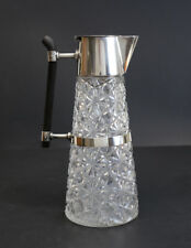 Hukin & Heath Silverplate Mount and cut glass Claret Jug Christopher Dresser