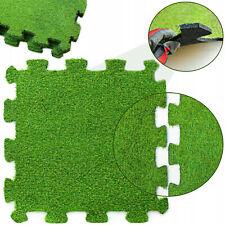Kunstrasen für Garten Tarase Balkon Puzzle Gras Rasenteppich Grasmatte 60x60 cm