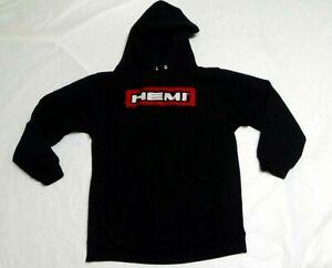Chrysler Hemi Youth Heavy Hoodie  X-Large 14 - 16 Black  Red & White Logo