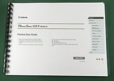Canon PowerShot G9X Mark II Instruction Manual: Full Color & Protective Covers!