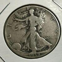 1938-D SILVER WALKING LIBERTY HALF DOLLAR SCARCE COIN
