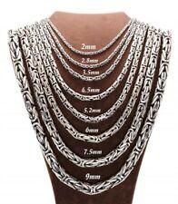 Königskette Massiv Rund 925er Echt Silber Halskette König Silberkette Ø2-5,2mm