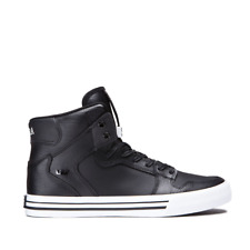 NEW SUPRA VAIDER BLACK WHITE 08208-002 HIP HOP MX SKATEBOARDING SHOES 10.5
