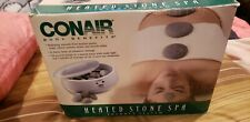 New Conair Heated Stone Spa Therapy System HR10 + Massage Oil +Hot Rocks NIB