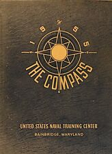 1955 THE COMPASS UNITED STATES NAVAL TRAINING CENTER Bainbridge MD • HC Book