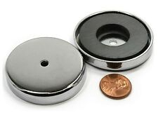 CMS Magnetics® Cup Magnet RB80 100 lb Holding Power 3.2 inch Round Base 3-Pieces