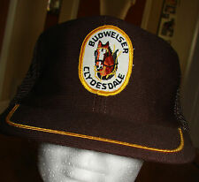 Vintage Bud Budweiser Clydesdale Patch Trucker Hat Brown Mesh Snapback