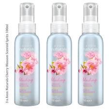 3 x Avon Naturals Scented Spritz Cherry Blossom // Room Mist Body Spray 100ml