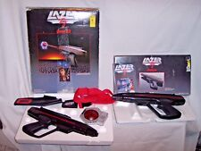 LOT OF Vintage 1987 Lazer Tag Starlyte Pro Rifle & Sensor SET