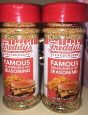 2 Bottles New Freddy's Frozen Custard Steakburgers Famous Fry Seasoning 8.5oz