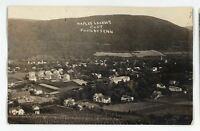 RPPC Aerial View Looking East NAPLES NY Finger Lakes Ontario Real Photo Postcard