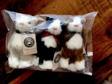 3 Boyds Bears Archive Collection Black White Orange Cat Kitten 1990-00. #1364