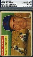 Pete Runnels Signed Psa/dna Certed 1956 Topps Autograph
