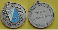 """MEDAGLIA VERNICI """"LA FRATELLANZA MODENA - CORRIDA DI SAN GEMINIANO - 1874/1974"""""""