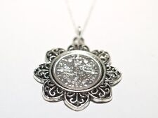Floral Pendant 1932 Lucky sixpence 86th Birthday+ 18 inch Sterling Silver Chain