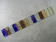 CHUNKY GLASS MOSAIC BORDER TILES - PEARLESCENT MIX