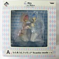 Re Zero Rem & Ram Nyanko Mode Ichiban Kuji PVC Figure Anime Girl Manga Japan
