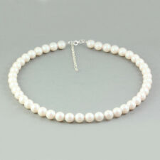 Sterling Silver Necklace 48cm+5cm made with 5810 10mm Pearls Swarovski® Crystals
