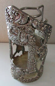 Vintage Godinger Silver Art Baccus Wine Bottle Holder Caddy Pourer Bar Tool