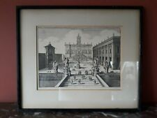 ANTIQUE 17TH C ARCHITECTURAL ENGRAVING MATTHAÜS MERIAN ANCIENT ROME  PIRANESI