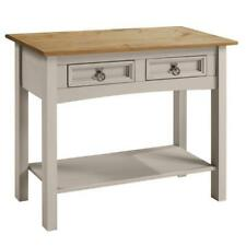 Corona Console Table Grey Wax 2 Drawer Solid Pine Hall by Mercers Furniture®