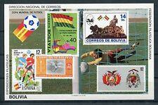 Bolivien Block 120 postfrisch / Fußball ..................................1/1363